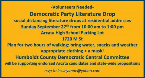 Join us for canvassing Sunday Sept. 22nd!